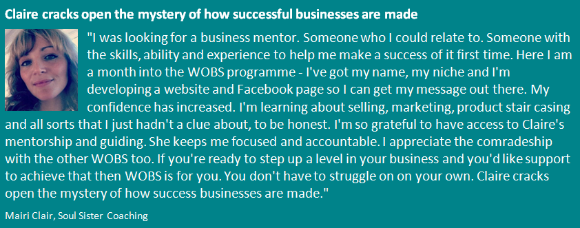 WOBS Women on the business stage Mairi
